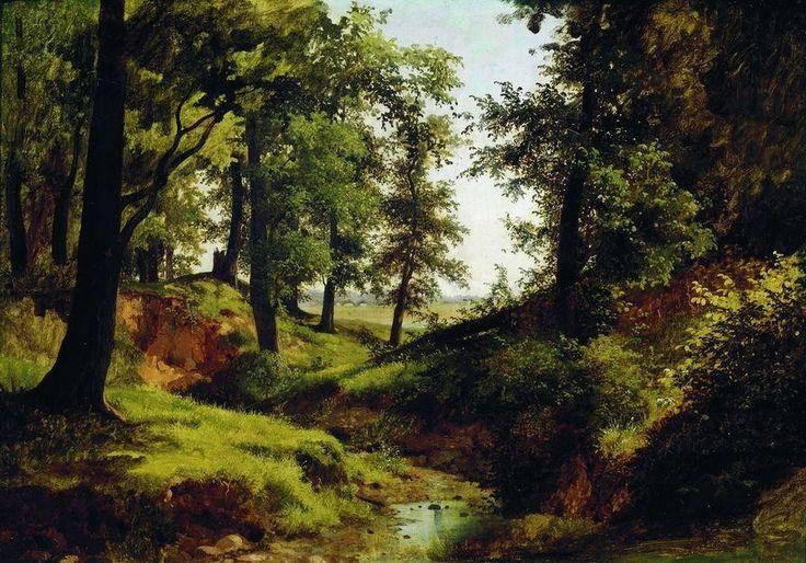 """Каменев Лев Львович (1833/1834-1886 г.), """"Ручей"""" 1884 г."""