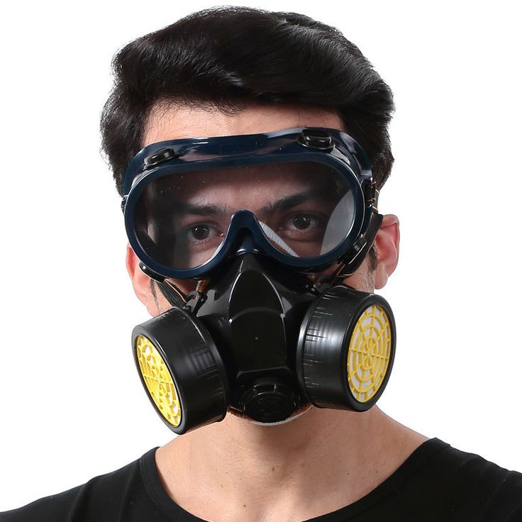 Dual Cartridge Anti-Dust Mask Painting Gas Filter Respirator Chemical Safety