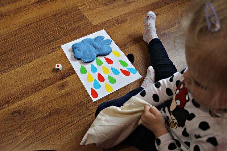 Farben lernen. Wolken Spiel.DIY.  2-3 Jahren