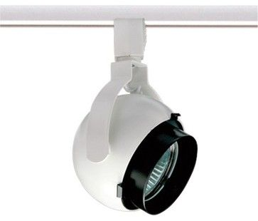Trac 12 TL165 MR16 Geometrics Orb Track Head, Tl165wh - contemporary - Track Heads And Pendants - LBC Lighting