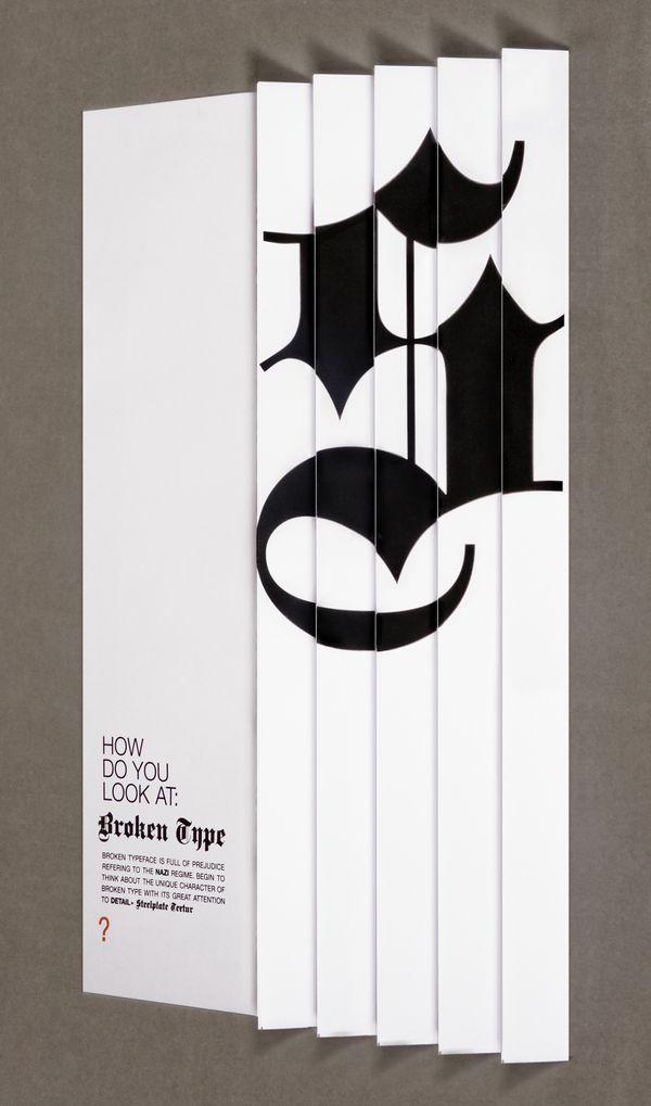 Broken type by Filip Triner, via Behance