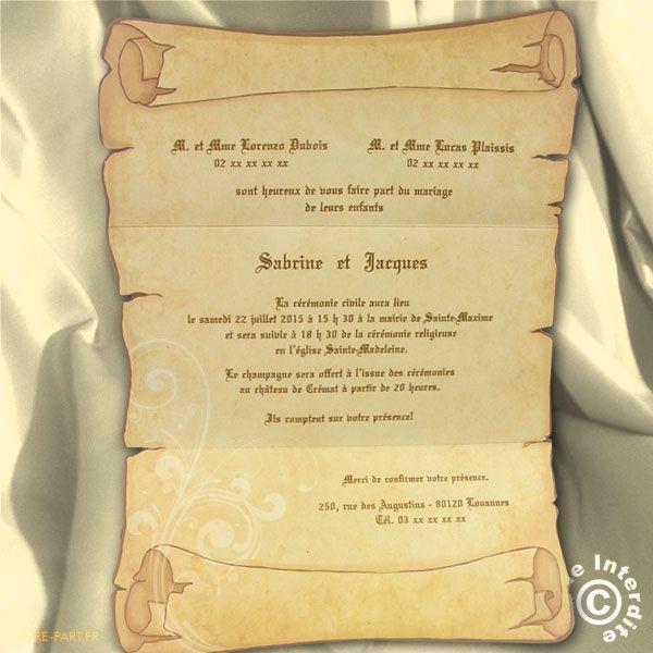 carte de remerciement mariage parchemin recherche google menu invitation remerciment. Black Bedroom Furniture Sets. Home Design Ideas