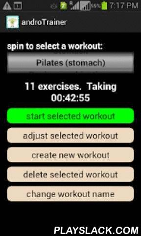 """AndroTrainer Voice/music Timer  Android App - playslack.com , This free timer comes with a 100% money back guarantee that with consistent use you will win every event at the Olympic Games.But, with greatness comes responsibility. Below are potential side effects caused by androTrainer.More than one boxer using androTrainer has accidentally punched through an opponent's chest causing significant staining of the canvas.MMA athletes are becoming """"simply too dangerous to compete."""" MMA referee…"""