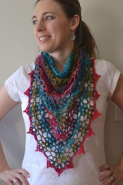 Crochet in Color: My Noro Shawl pattern (uses sock yarn)