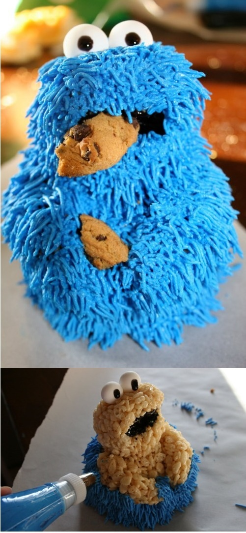 how to make fondant figures with rice krispies
