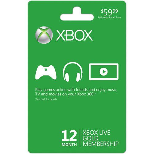 Xbox Live 12 Month Gold Membership Card, 2015 Amazon Top Rated Xbox 360 #VideoGames