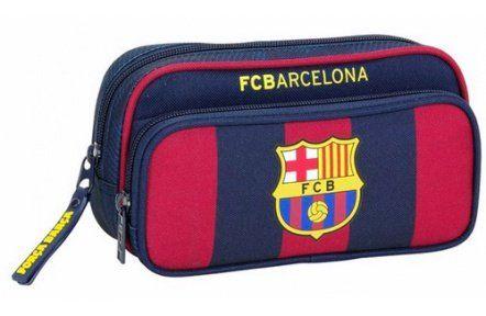 FC Barcelona Logo - Etui - 21 cm - Multi - Met extra voorvak
