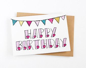 Image result for happy birthday hand lettering easy