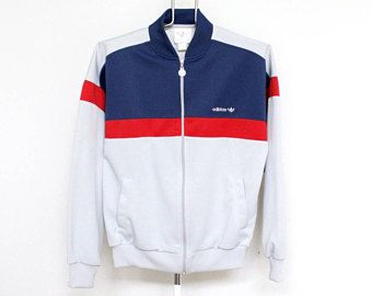 Pista de Adidas chaqueta para hombre medio Unisex mujer gris azul franja roja rayas sudadera sudor camisa cremallera hasta tenis Vintage B niño Hip Hop