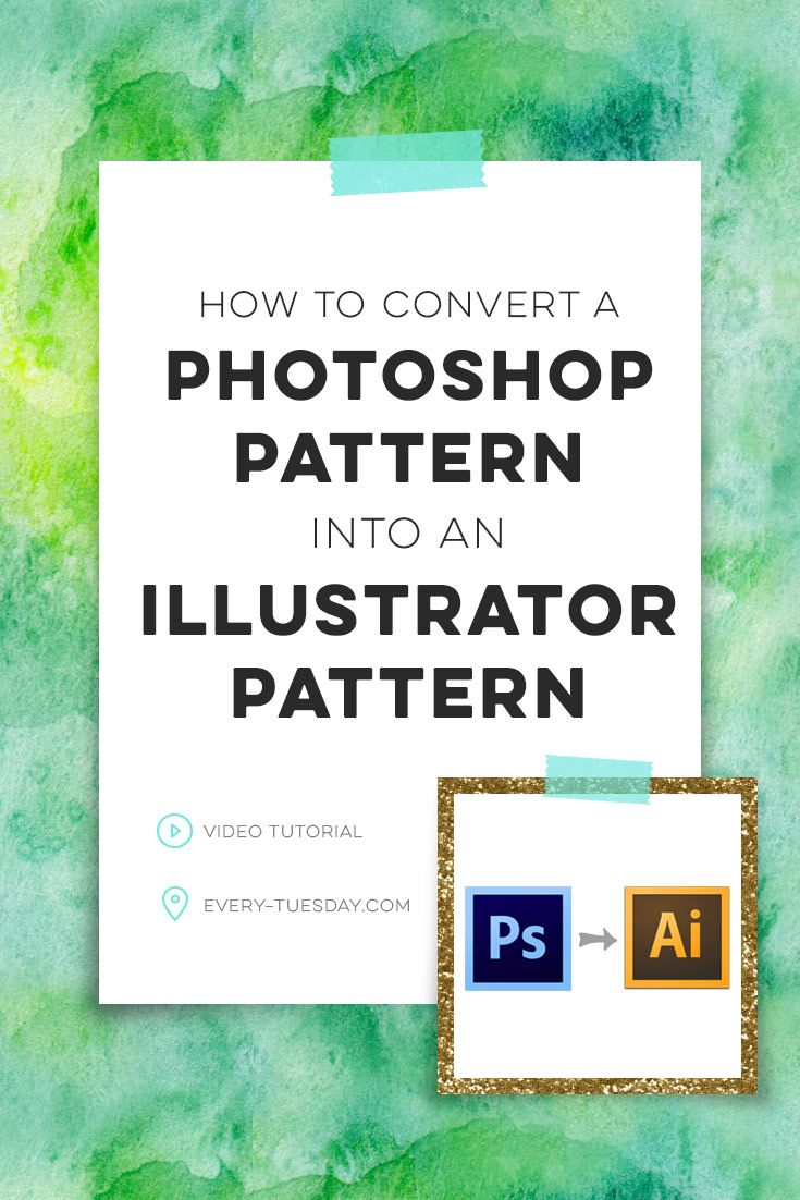 how to convert a photoshop pattern into an illustrator pattern