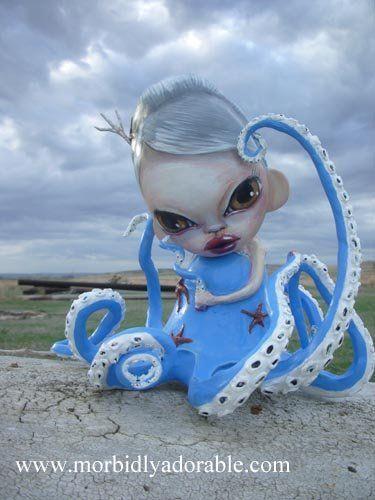 Breaking Away Munny - Octopus Mermaid  by mistybenson
