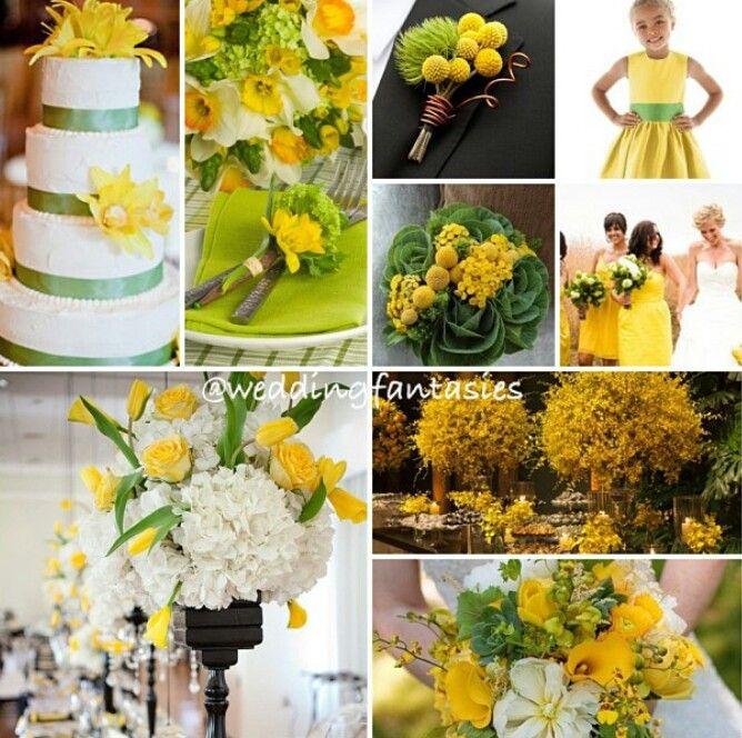 Green Yellow And White Wedding Theme