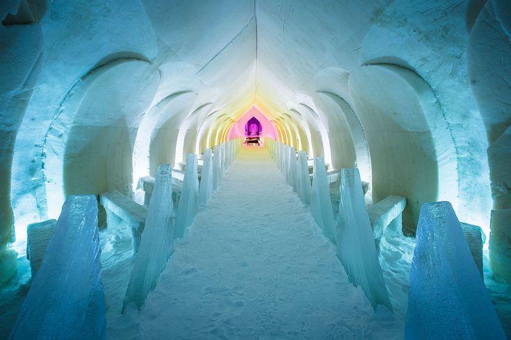Snow and ice: building materials -Rovaniemi, Lapland, Finland
