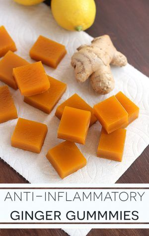Easy anti-inflammatory ginger gummies recipe that supports joint health, assists the immune and digestive system, and creates healthier hair and nails.
