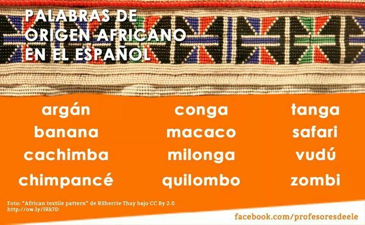 Palabras africanas
