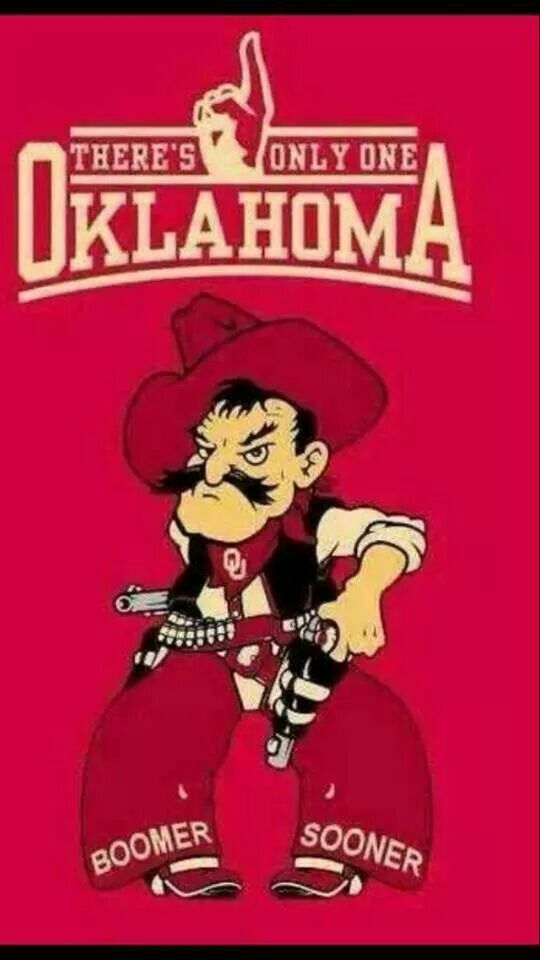 Pistol Pete, NCAA's best mascot, would look  awesome (in crimson) driving the Sooner Schooner ! Too bad he's already taken.............Fun fact: Pete HATES TEXAS !!