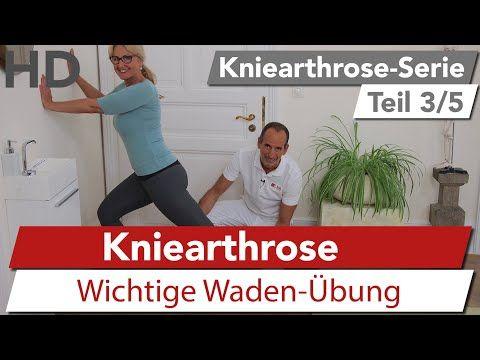Kniearthrose Übung // Dehnung der Wade // Wadenübung, Knieschmerzen - YouTube