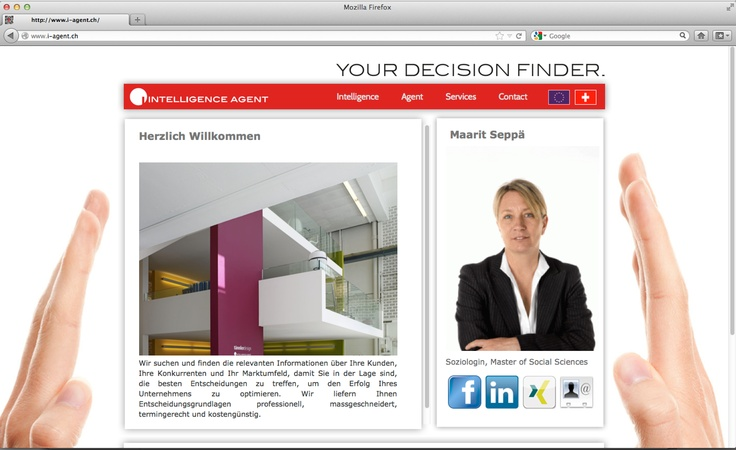 YOUR DECISION FINDER. Simply clever but wordpress incl pinterest feed for intelligence agent. 2012