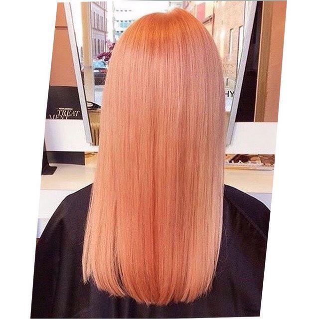 peach gold pastel hair colour