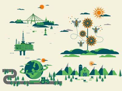 Infographic scenes by Henning Gjerde