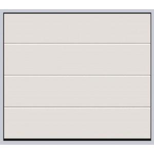 Porte sectionnelle de garage rainuree blanche (RAL : 9016) - emf17