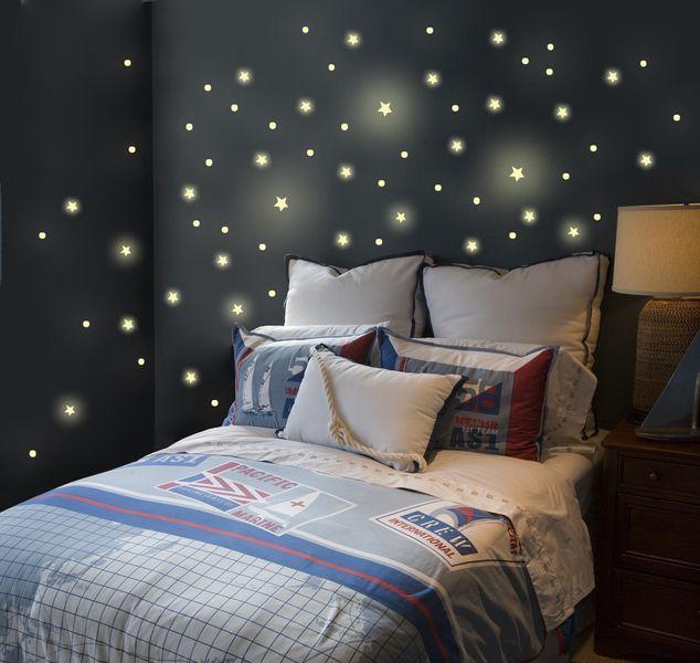 Stunning Wandtattoos Wandtattoo Sterne Stern fluoreszierend M ein Designerst ck von IlkaParey bei DaWanda