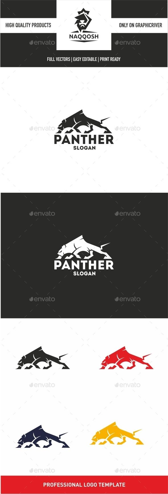 Panther Logo — Vector EPS #studio #logo • Available here → https://graphicriver.net/item/panther-logo/10345997?ref=pxcr