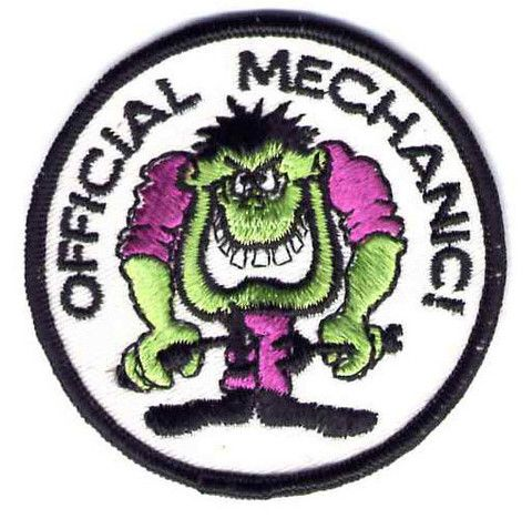 Vintage OFFICIAL MECHANIC! Monster Motorcycle Patch!