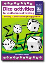 Dice activities for mathematical thinking blackline master was created by teachers to engage students in developing fluency with the mathematical concepts of square numbers, square roots, prime numbers, factorials, summation and integers.