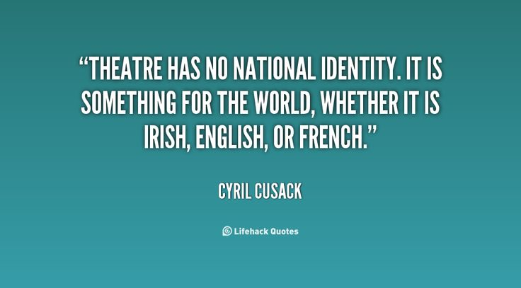 Theatre is for the world #quote