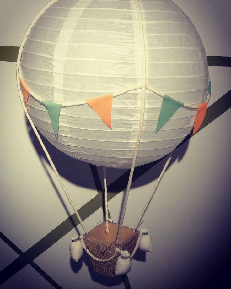 Pantallas decorativas infantiles - globo aerostático. Pedidos a luceldeco@gmail.com