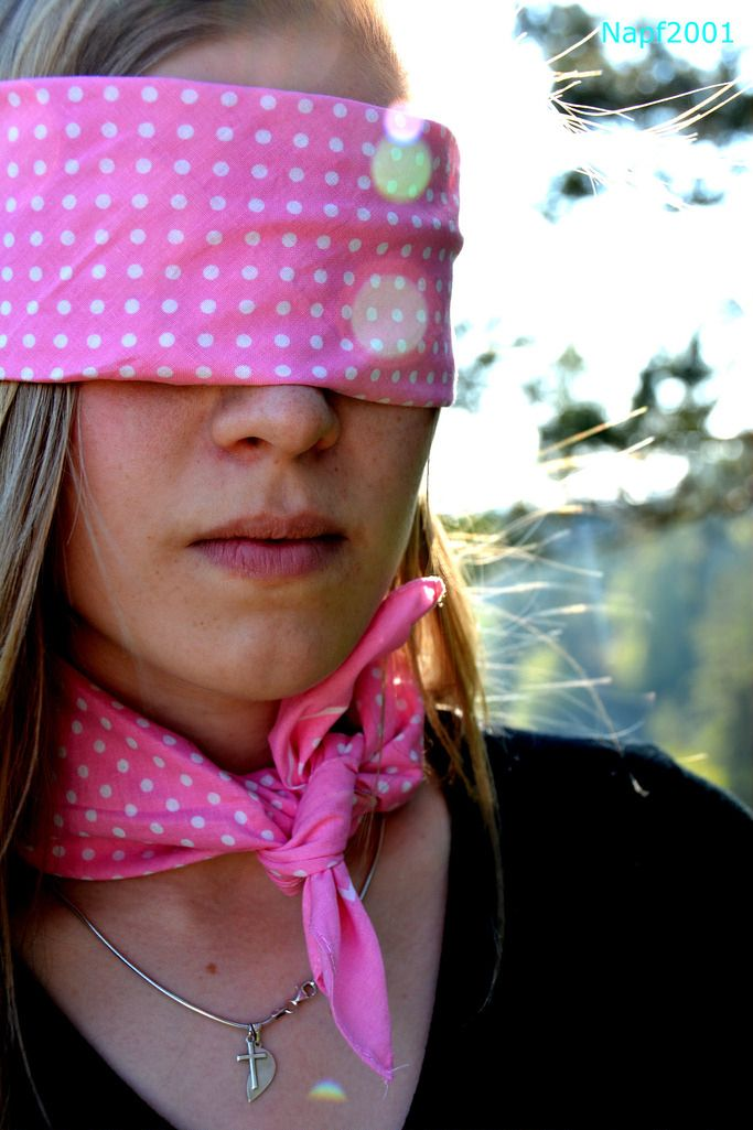 Set 153 BLINDFOLDS Bandana Tie E Polka Dots