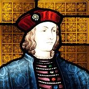 Stained glass window featuring King Edward IV - © Nash Ford Publishing
