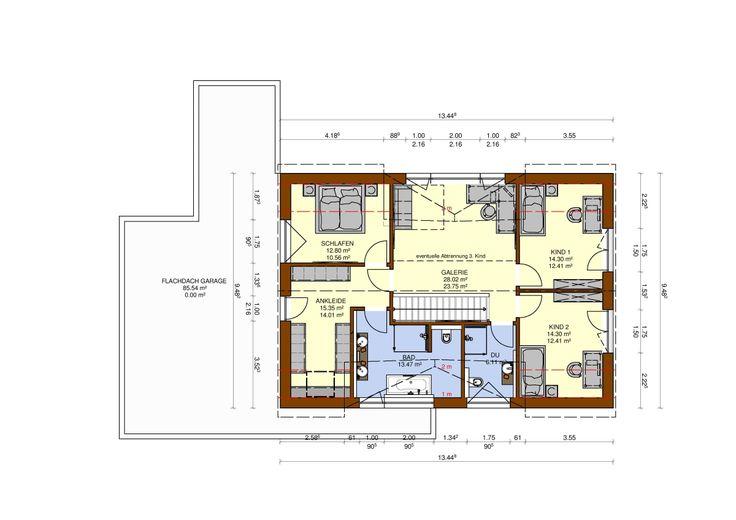Satteldachhaus 199m² Haus hanglage, Haus, Haus planung