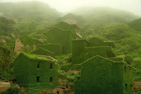 An abandoned village in Shengsi County's Gouqi island which is in Zhoushan, China