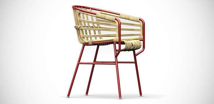 Raphia modern chair by Casamania Frezza, Design Lucidi Pevere