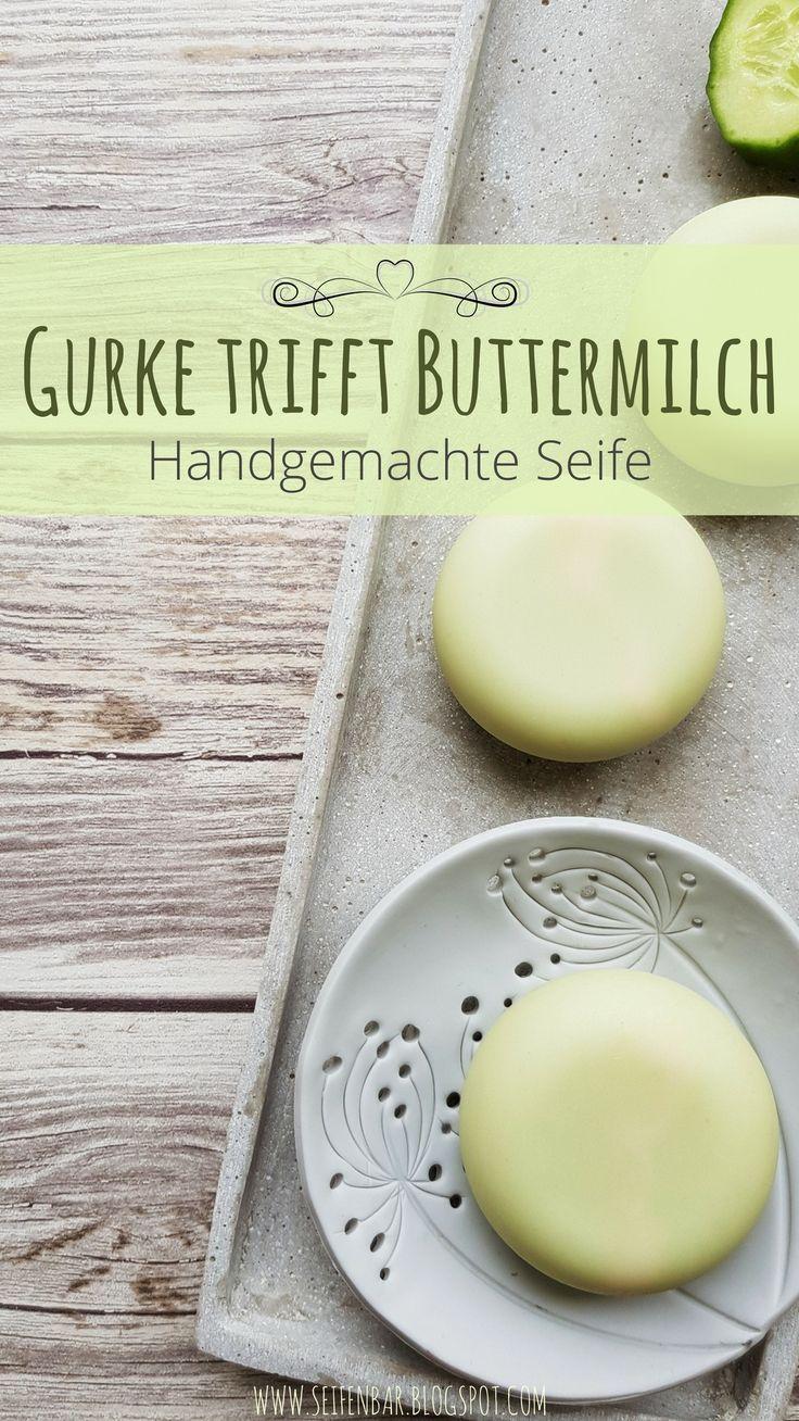 Gurke trifft Buttermilch – handgemachte Seife #Seife # Seifenherstellung #Seife # …   – Sommer ° DIY Deko Ideen