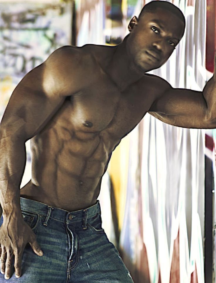Sexy black men with abs — photo 8