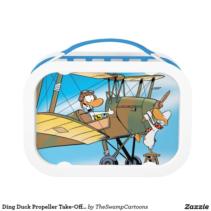 45% off lunch boxes for 3 days! Use the code word: READY4SCHOOL. http://www.zazzle.com/ding_duck_propeller_take_off_lunch_box-256301439892584787?rf=238100710189761270