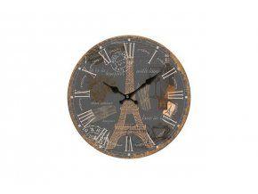 Nástěnné hodiny Dark Eiffel, 34 cm