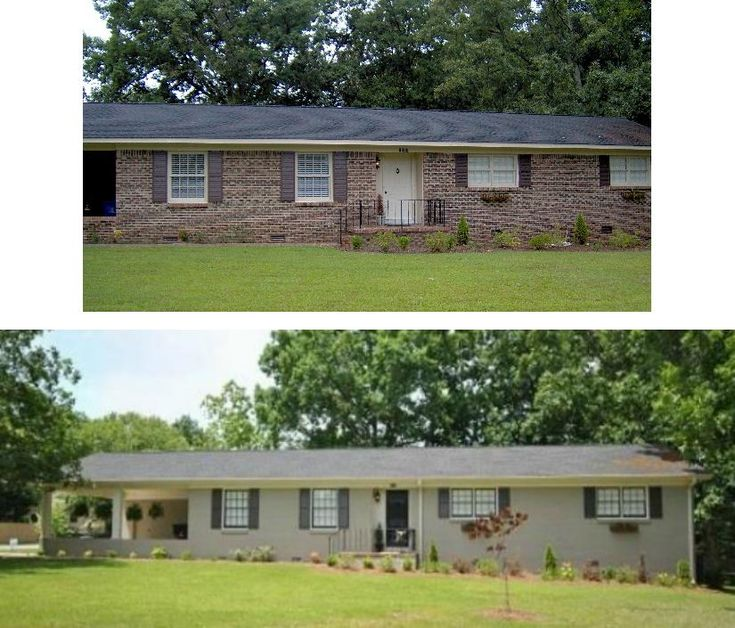 Ranch Style Homes Exterior Remodel White