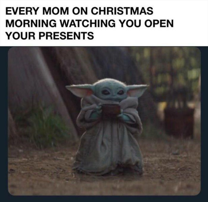 Every Mom On Christmas Pictures Yoda Meme Funny Relatable Memes Memes
