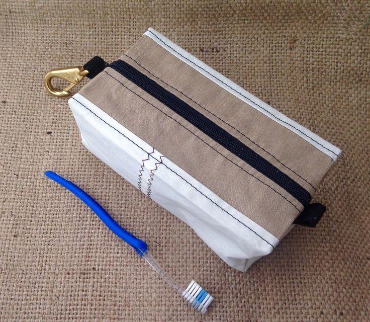 Sail Cloth Toiletry Bag, Toiletry Kit, Dopp Kit by BreakwaterCo on Etsy https://www.etsy.com/listing/211931241/sail-cloth-toiletry-bag-toiletry-kit