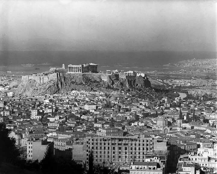 Athens view from Lycabettous hill 1928-9