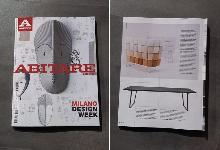 Undecided sofa by #RaffaellaMangiarotti e #IlkkaSuppanen on the April issue of the Italian design magazine #Abitare