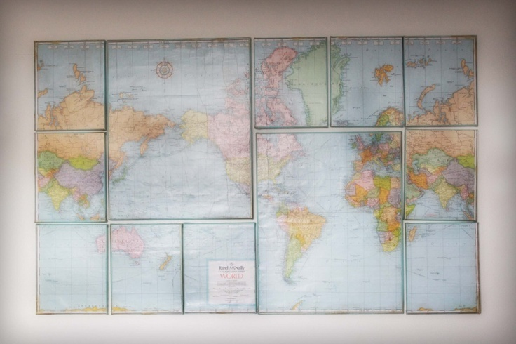 Canvas Map Wall Decor.  We can print on canvas and create this and more