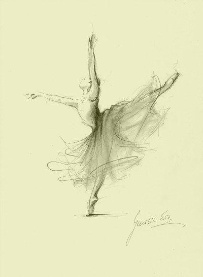 Limited Edition 8 x 12 print on CREAM PAPER of original pencil drawing by Ewa Gawlik (1/100).