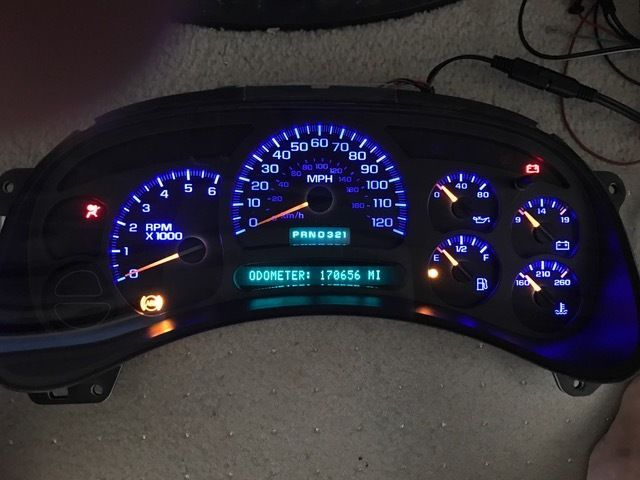 Chevy Silverado Tahoe Avalanche 99 02 Instrument Cluster Odometer