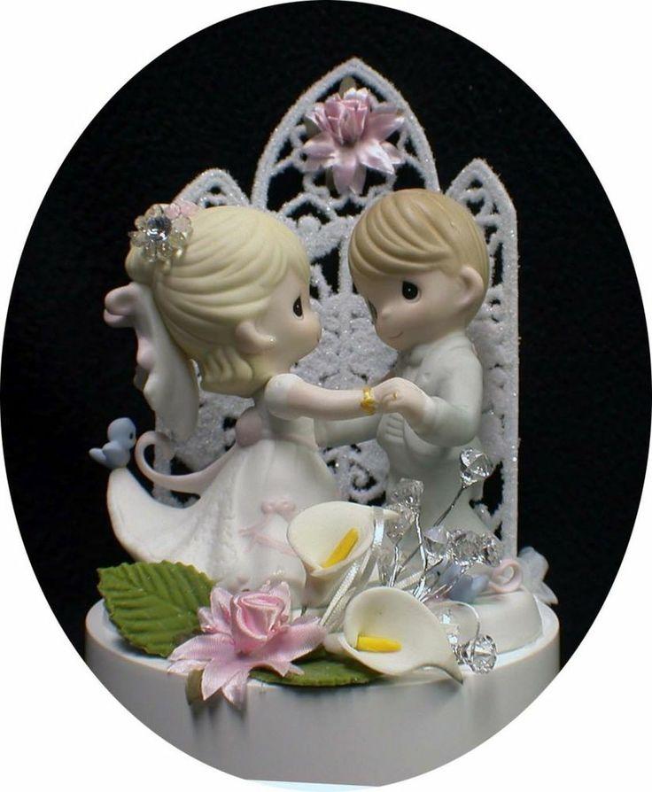 Pink Little Blue Bird Precious Moments Figurine Wedding
