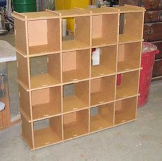 Cubby Hole Cardboard Shelving Unit available from grkreationsdire.com